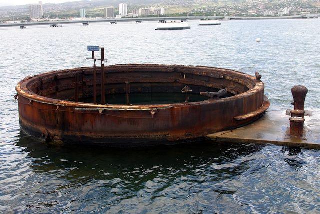 Pearl Harbor >> USS Arizona Gun Turret